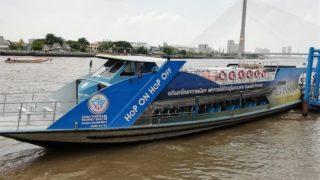チャオプラヤー川 水上ボート