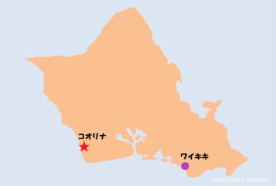 オアフ島地図