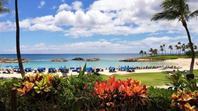 ハワイ コオリナ コオリナリゾート マリオットコオリナ ビーチ 景色
