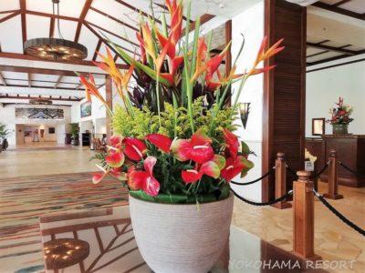マリオットコオリナ ロビーの花