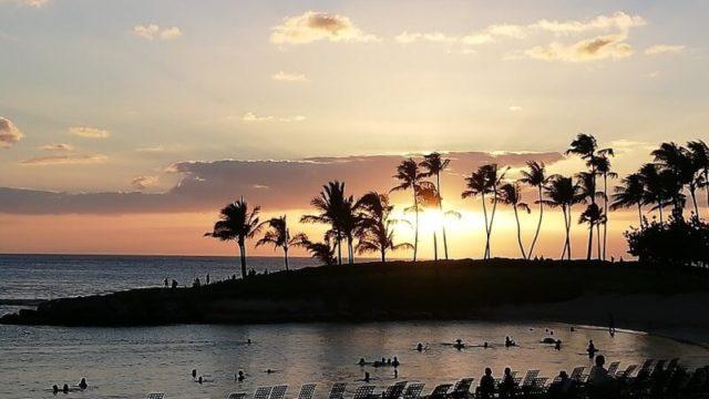 ハワイ コオリナ コオリナリゾート マリオットコオリナ コオリナのサンセット