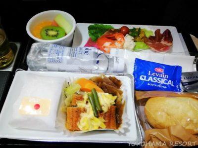 ANA A380 プレミアムエコノミー 機内食