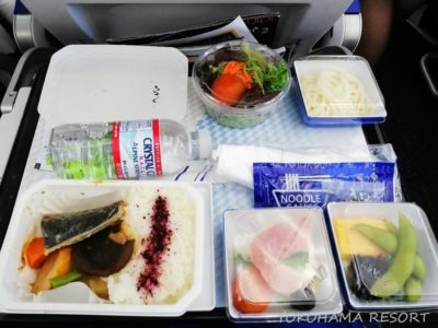 ANA A380 エコノミー 機内食