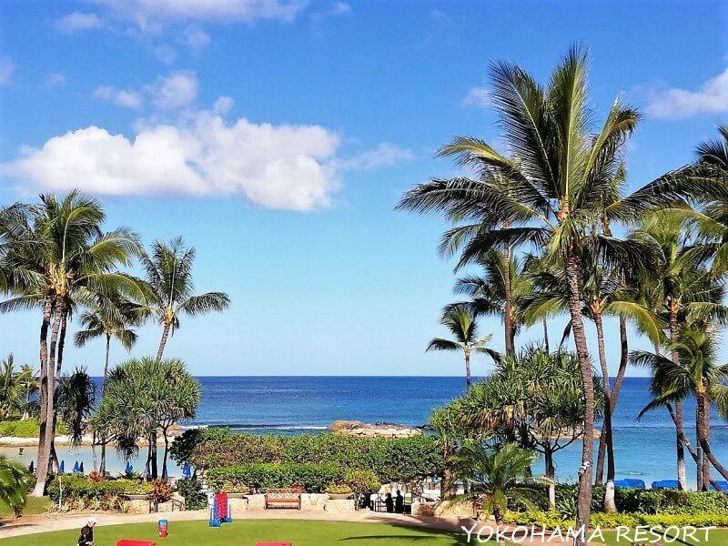 ハワイ コオリナ コオリナリゾート マリオットコオリナ 景色 ビーチ