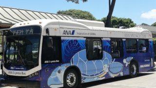 ハワイ ワイキキ ANAエクスプレスバス ブルー アラモアナセンター