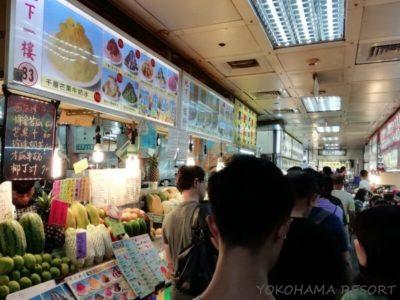 台北 士林市場 地下の屋台