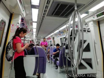 空港MRT 車内