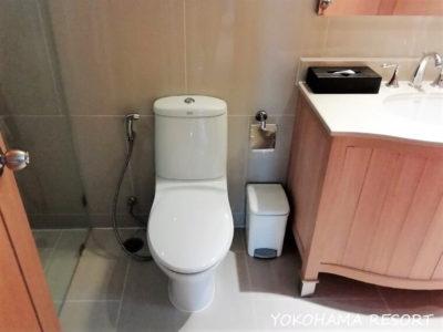 バンコク旅行 マリオットバケーションクラブ エンパイアプレイス2BR バスルーム トイレ