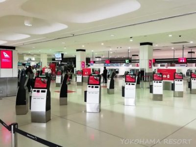 シドニー空港 国際線チェックインカウンター