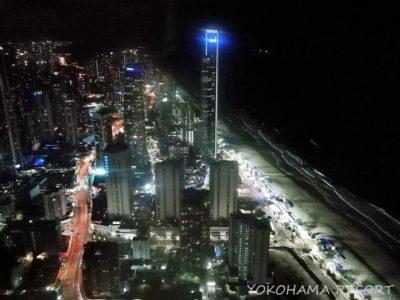 サーファーズパラダイス スカイポイント展望台 北側眺め 夜景