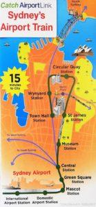 シドニー 鉄道路線図 エアラインリンク