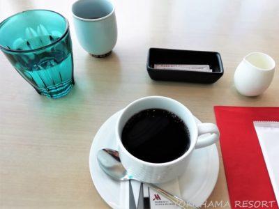 大阪マリオット都ホテル 朝食後のコーヒー