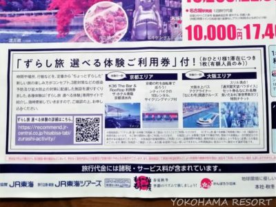 JR東海ツアーズ ひさびさ旅割引 パンフレット ずらし旅選べる体験