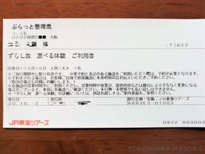 JR東海ツアーズ ひさびさ旅割引 パンフレット ずらし旅選べる体験 利用券