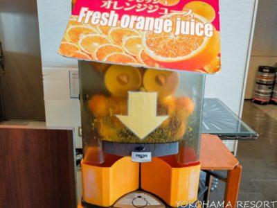 名古屋マリオットアソシアホテル レストラン朝食 フレッシュジュース製造機